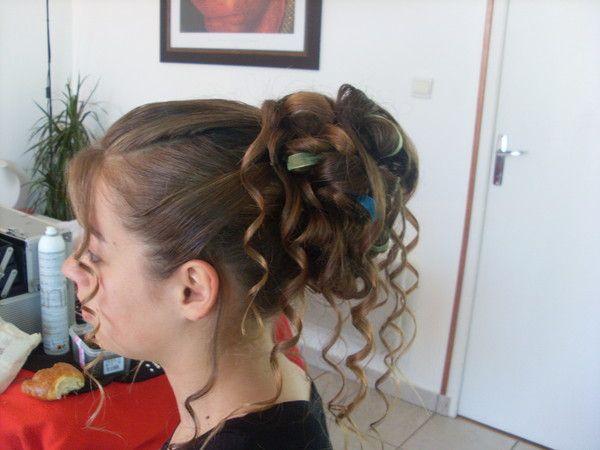 Chignon Cheveux Long Avec Rubans